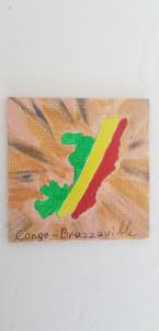 Magnet Carte Congo-Brazzaville