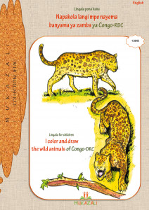 I color and draw the wild animals of Congo-DRC in Lingala-Français
