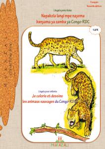 Je colorie et dessine les animaux sauvages du Congo-RDC en Lingala-Français